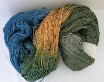 Hand Dyed Mercerized Cabled Cotton - CRAYONS LITE - from Rainbow Mills - 508g - 944 yards