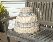 Bluebell - Hand woven rattan cane and Danish cord lampshade gives a beautiful diffused light