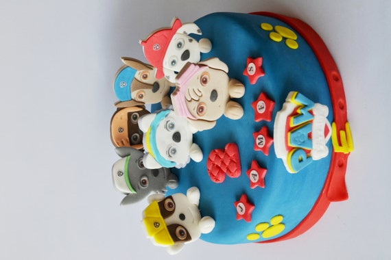 Edible Cake Decorations Paw Patrol : personalised edible cake decoration PAW PATROL cake ...