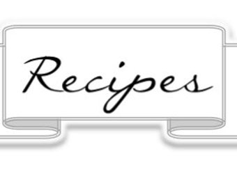 Recipes label - Simple Collection