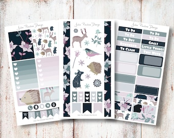 Planner Stickers for your filofax, Erin Condren vertical and Happy Planner - Into The Woods Mini Kit