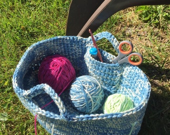 Crafters Crochet Yarn Organizing Basket pattern