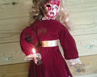 Ooak burnt horror doll