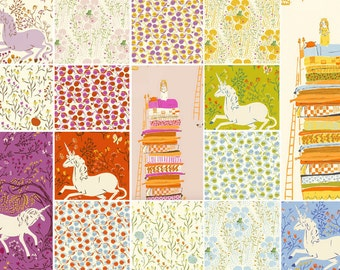 Far Far Away, by Heather Ross, for Windham Fabrics, Complete Fabric Bundle, Fat Eighth, Fat Quarter, half yard