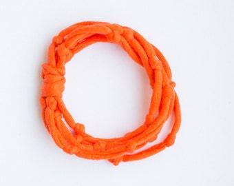 Recycled Jersey Knotted Bracelet
