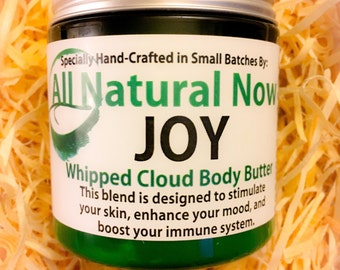 Joy Whipped Body Butter/100% Pure & Organic Essential Oils/Shea Butter/Cocounut Oil