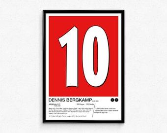 Dennis Bergkamp - #10 - Arsenal F.C. - Poster Print