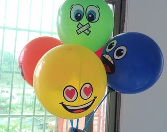 100pcs/lot Printed Big Eyes Smiley Air Balloon Happy Birthday Party Decoration Ballons Inflatable Latex Balls Kid Toys 476