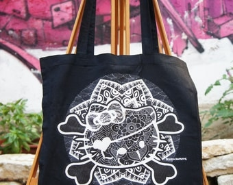 Tote Bag Hello Kitty Mandala Black