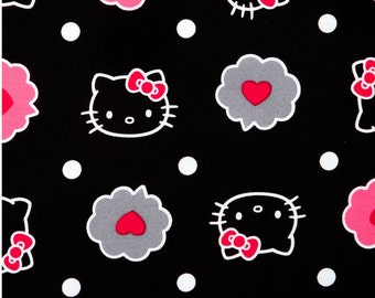 "Hello Kitty Fabric / Nursery Fabric: Thoughts of Love Bubble - Hello kitty heads allover floral 100% cotton Fabric by the yard 36""x43""(SC61)"
