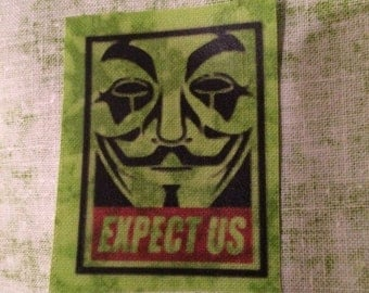 Anonymous expect us sew on patch