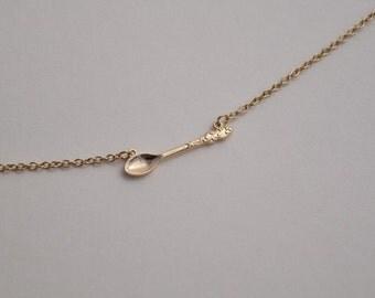 spoon necklace gold necklace everyday necklace bridesmaid necklace