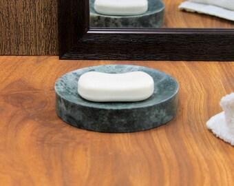 KLEO Natural GREEN Stone Soap Dish Bath Accessories For Bathroom, Tub or Wash Basin