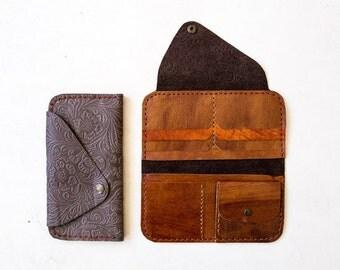 Deri'Da Handmade Soft Leather Wallet With Pattern