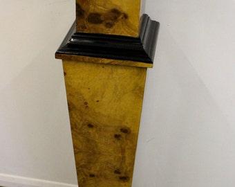 Antique art deco style pillar column pedestal table stand interior design - C261