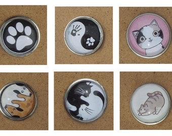 Snap button - Cats, paws, ... - Choose from 44 designs