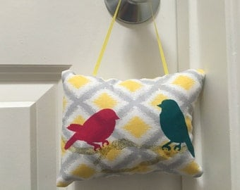 Mini hanging pillow