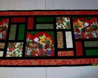 Stained Glass Christmas Table runner by Sew4Fun Australia