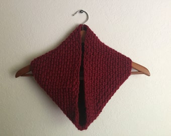 Casual Chunky Cowl, Red