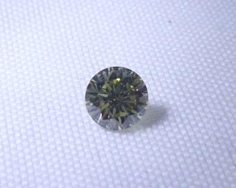 0.33ct Greenish Yellow Diamond , 100% Natural Untreated