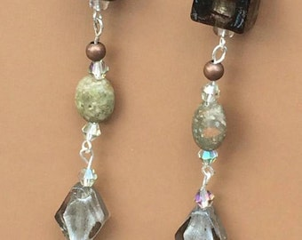 Long funky dangle earrings