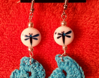 Light blue Dragonfly earrings