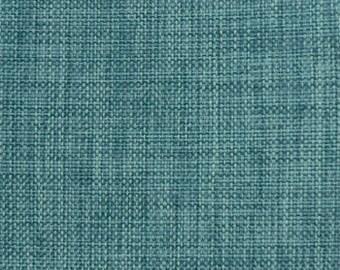 Upholstery Fabric, Drapery Fabric, Tuscan Fabric, Linen Like Fabric, Aqua Burlap Like Fabric, Slip Cover Fabric,  Fabric By The Yard