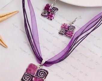 Modern Square Jewellery Set