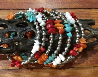 Southwest Style Beaded Spiral Bracelet