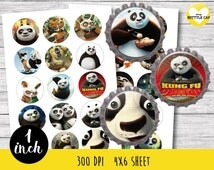 Kung fu panda Collage Sheet-1 inch Bottlecap-Printable Image Download-Kung fu panda bottle cap-Kung fu panda 1 inch bottle cap-1 inch bottle