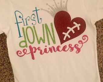 First Down Princess Tee