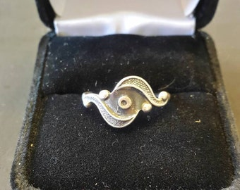 Vintage 925 Sterling Silver Swirl Ring Jewelry