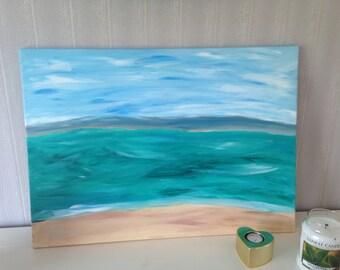 Beautiful acrylic painting ocean