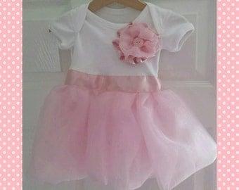 Babygrow tutu embellished dress in newborn - 18-24 months