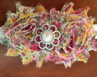 Floral Shabby headband