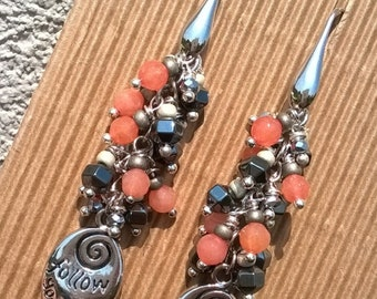 Silver 925 with Follow your Heart hook earrings