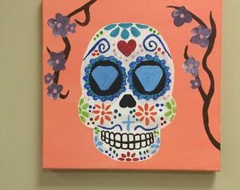 Sugar Skull Original Painting