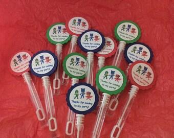 12 PJ Masks Bubbles BUBBLE WANDS Birthday party favors