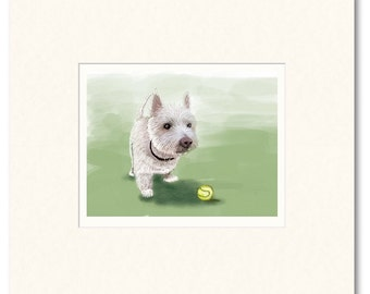 Limited edition giclee print. Please play ball with me.