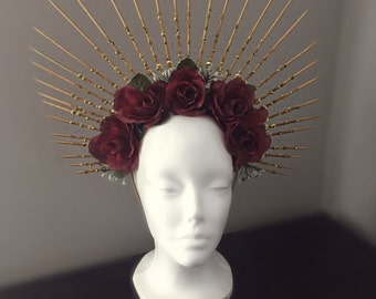 Angel Halo Flower Crown Head Piece