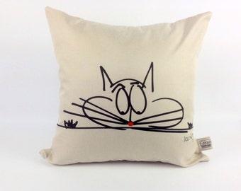 Decorative cushion / pillow cat/pad animals/St-Jean-sur-Richelieu
