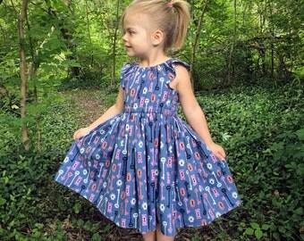 Flutter Sleeve Dress • Skeleton Key