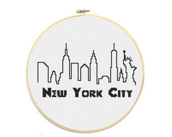PDF - New York City Skyline Cross Stitch Pattern