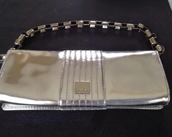 Kobe Silver Metallic Clutch