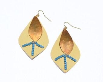 Boho Style Leather Earrings