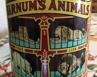 Vintage 1979 Nabisco Tin - Barnum's Animals