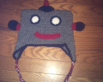 Crochet Robot Hat