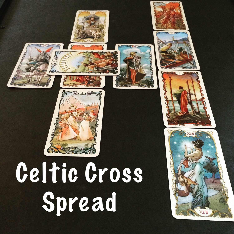 Celtic Cross Tarot Spread. Tarot 10 Card Reading. Psychic