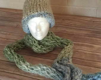 Changing Colors hat and scarf set