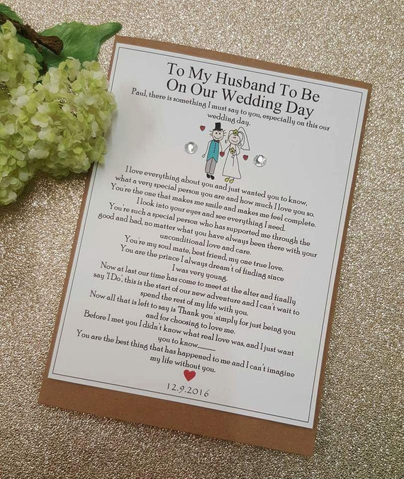 Wedding Day Gift To Husband: To My Groom To My Groom On Our Wedding Day Husband To Be On